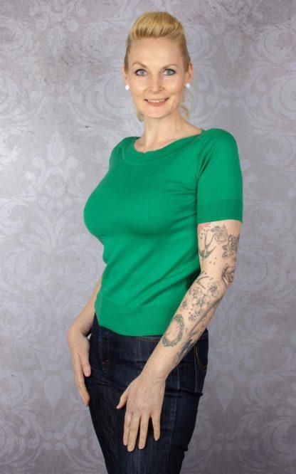 King Louie - Top Audrey Cottonclub Green   Grün von Rockabilly Rules