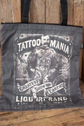 Liquorbrand Baumwolltasche Tattoo Mania von Rockabilly Rules