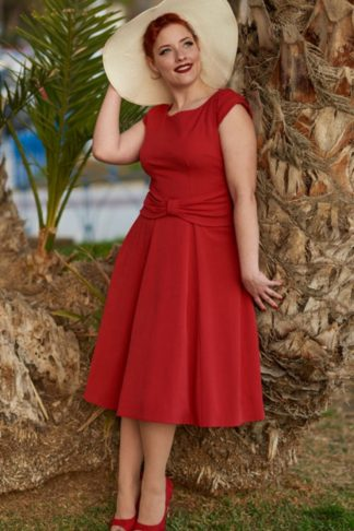 Miss Candyfloss Swingkleid Angelina, rot von Rockabilly Rules