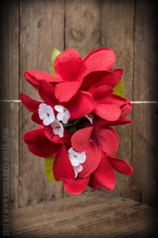 Plumeria HairClip Cherry Red von Rockabilly Rules