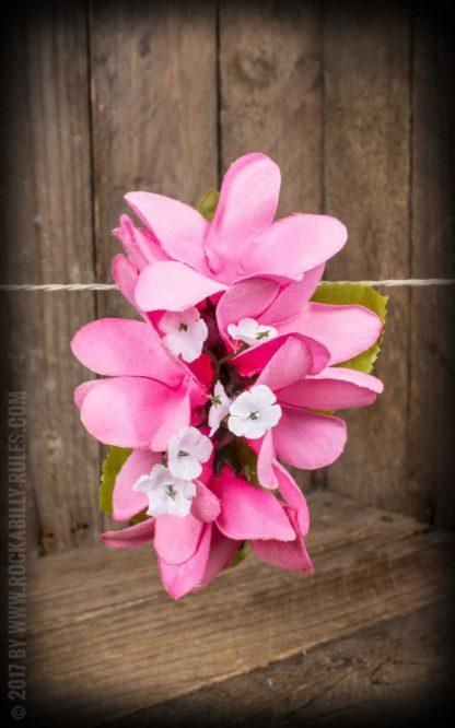 Plumeria HairClip Light Pink von Rockabilly Rules