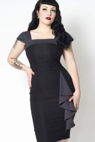 Putre Fashion Pencil Skirt Dress Love Affair, schwarz von Rockabilly Rules