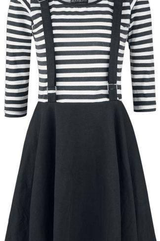 Rockabella Kadia Dress Kurzes Kleid schwarz/weiß
