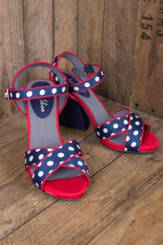 Ruby Shoo - Polkadot Plateauschuh Evie von Rockabilly Rules