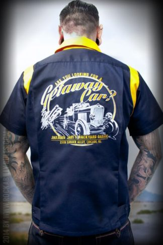Rumble59 - Bowling Shirt - Getaway Car von Rockabilly Rules
