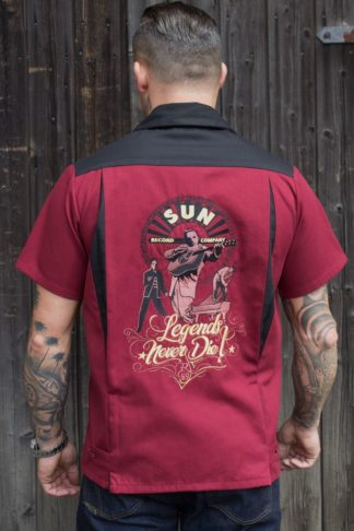Rumble59 - Bowling Shirt - SUN, Legends never die von Rockabilly Rules