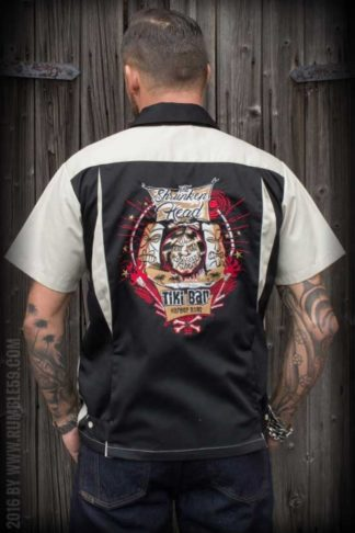 Rumble59 - Bowling Shirt - Shrunken Head von Rockabilly Rules