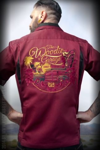 Rumble59 - Bowling Shirt - The Woodie Garage von Rockabilly Rules