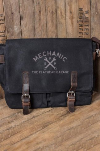 Rumble59 - Canvas Workerbag - The Flathead Garage - schwarz von Rockabilly Rules