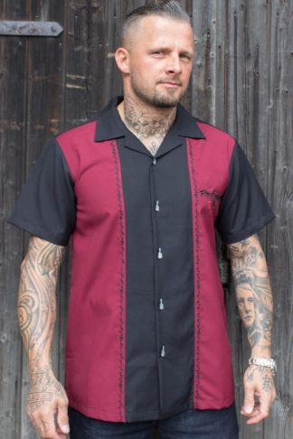 Rumble59 - Classic Shirt - Rock'n'Roll Desert - bordeaux von Rockabilly Rules