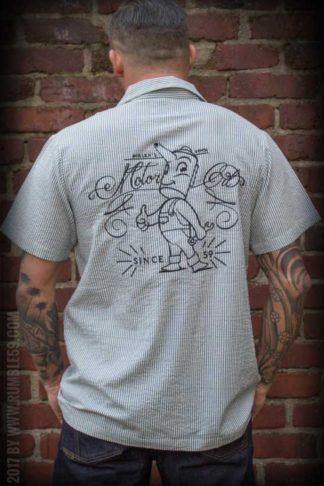 Rumble59 - Gas Station Shirt - Miller's Motor Oil von Rockabilly Rules