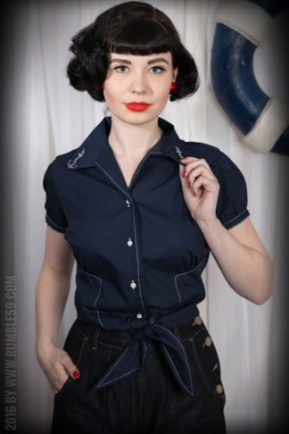 Rumble59 Ladies - Bluse Anchors Aweigh! von Rockabilly Rules