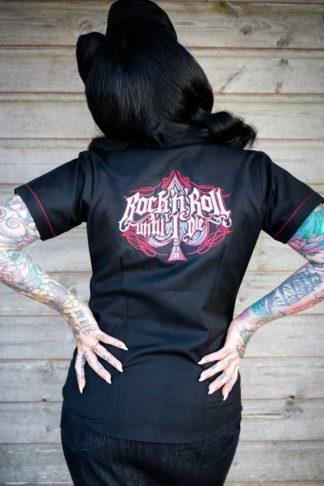 Rumble59 Ladies - Bluse R'n'R Until I Die von Rockabilly Rules