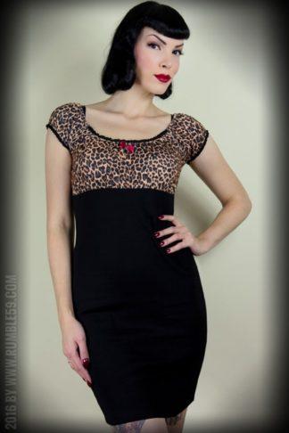 Rumble59 Ladies - Carmenkleid - Hot Leopard von Rockabilly Rules