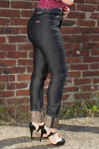 Rumble59 Ladies Denim - Black Marilyns' Curves - Slim Fit von Rockabilly Rules