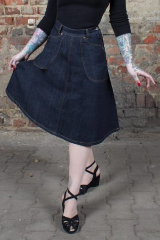 Rumble59 Ladies Denim - Jeansrock Rocking Rosie von Rockabilly Rules