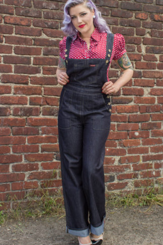Rumble59 - Ladies Denim - Latzhose/ Playsuit von Rockabilly Rules