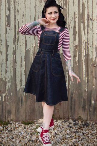 Rumble59 Ladies Denim - Latzkleid Rocking Rosie von Rockabilly Rules