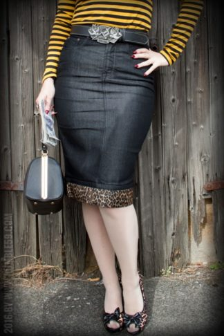 Rumble59 Ladies Denim - Perfect Pencil Skirt - schwarz von Rockabilly Rules