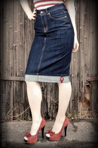 Rumble59 Ladies Denim - Perfect Pencil Skirt von Rockabilly Rules