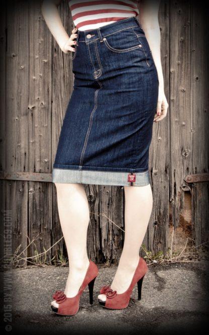Rumble59 Ladies Denim - Perfect Pencil Skirt von Rockabilly Rules