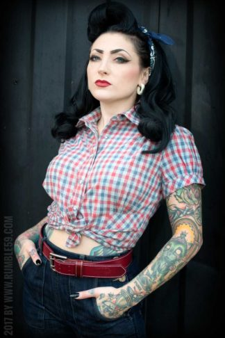 Rumble59 Ladies - Karo Bluse - Good Golly Miss Molly von Rockabilly Rules