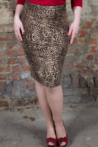 Rumble59 Ladies - Leo Pencil Skirt - The wild one von Rockabilly Rules