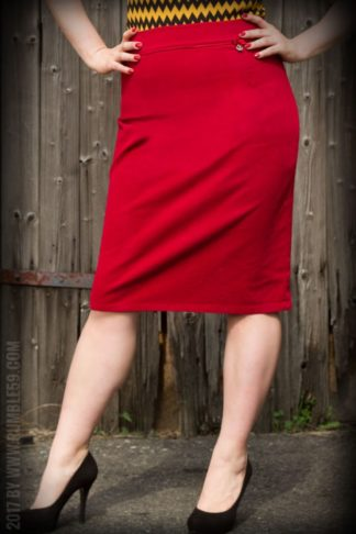 Rumble59 Ladies - Perfect Pencil Skirt - rot von Rockabilly Rules