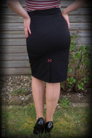 Rumble59 Ladies - Perfect Pencil Skirt - schwarz von Rockabilly Rules