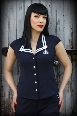 Rumble59 Ladies - Sailor Bluse von Rockabilly Rules