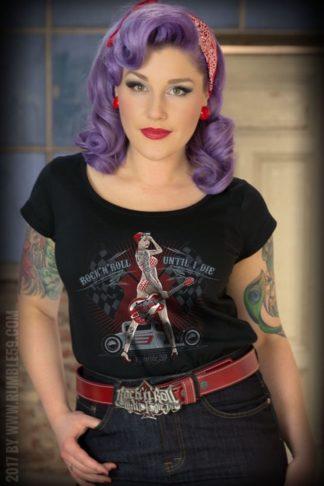 Rumble59 - Ladies Scoop Neck Shirt - Until I Die von Rockabilly Rules