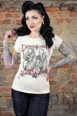 Rumble59 - Ladies T-Shirt - Saint or Sinner - offwhite von Rockabilly Rules