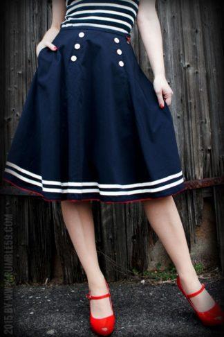 Rumble59 Ladies - Tellerrock - Ahoi Sailor! von Rockabilly Rules