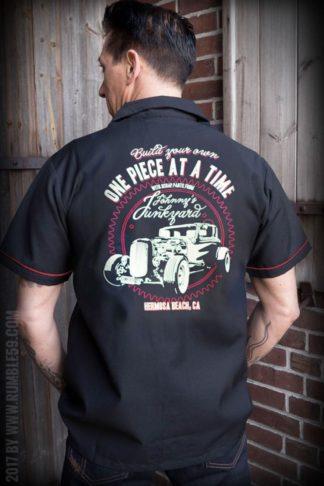 Rumble59 - Lounge Shirt - Johnny's Junkyard von Rockabilly Rules