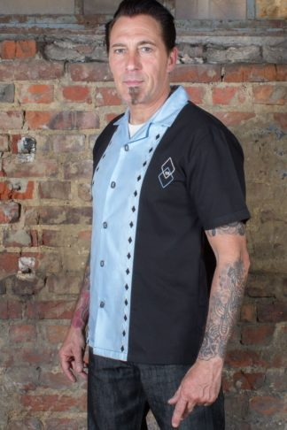 Rumble59 - Lounge Shirt - Rocking Diamonds - hellblau von Rockabilly Rules