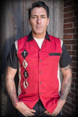 Rumble59 - Lounge Shirt - TCB-Diamonds - rot von Rockabilly Rules