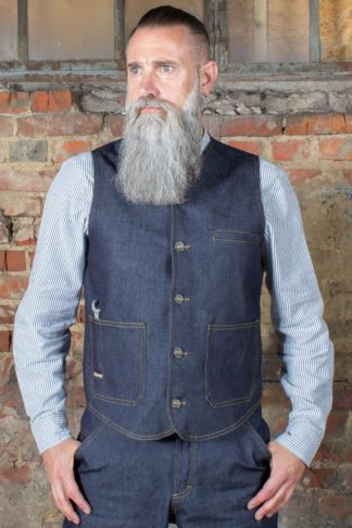 Rumble59 - RAW Denim Weste - Dapper Workman von Rockabilly Rules