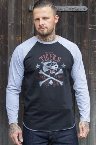 Rumble59 - Raglanshirt - Memphis Tigers - Langarm von Rockabilly Rules