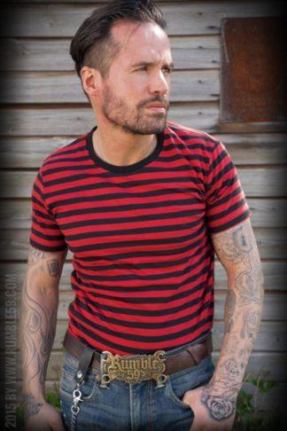 Rumble59 - Ringel-Shirt - schwarz/ rot von Rockabilly Rules