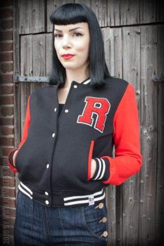Rumble59 - Sweat College Jacke - schwarz/rot von Rockabilly Rules