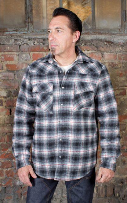 Rumble59 - Winter Shadow Plaid Shirt | Flanellhemd - Idaho von Rockabilly Rules