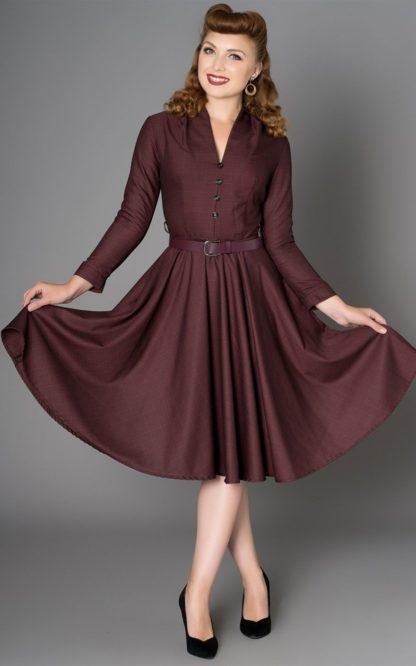 Sheen Clothing Herbst Kleid Helena von Rockabilly Rules