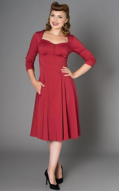 Sheen Clothing Kleid Nanette, rot von Rockabilly Rules