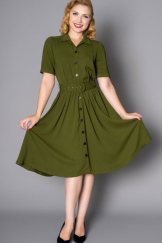 Sheen Clothing Kleid Queenie, grün von Rockabilly Rules