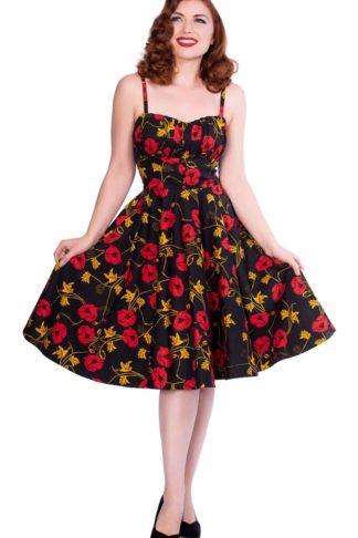 Sheen Clothing Swing Kleid Flower Power Lexie von Rockabilly Rules
