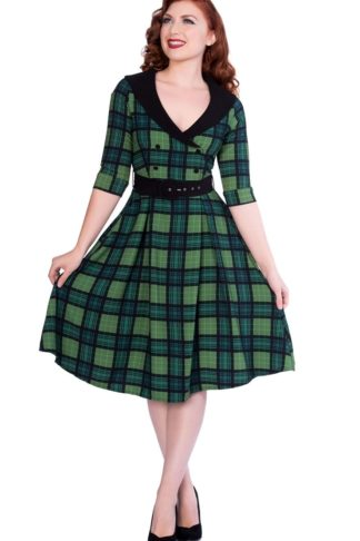 Sheen Clothing Swing Kleid Poison Green Raakel von Rockabilly Rules