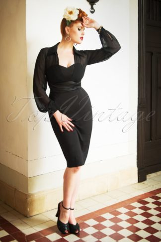 The Norma Pencil Dress in Black