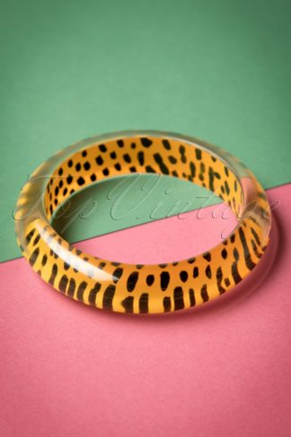 TopVintage Exclusive ~ 20s Lily Midi Bangle in Leopard