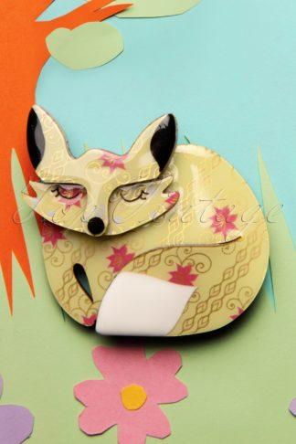 TopVintage exclusive ~ 60s Sacha Sleeping Fox Brooch