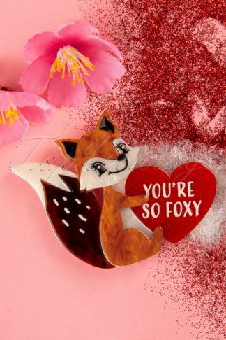 TopVintage exclusive ~ 60s You're So Foxy Brooch